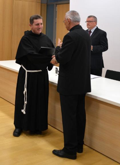 Fra Ivan Bradarić - glavni urednik Veritasa